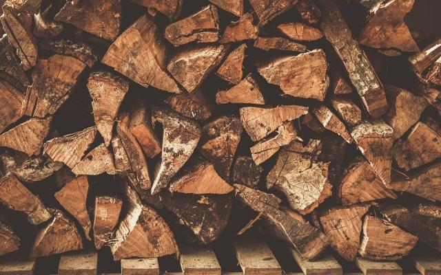 textury, klády, strom, textura, dřevo