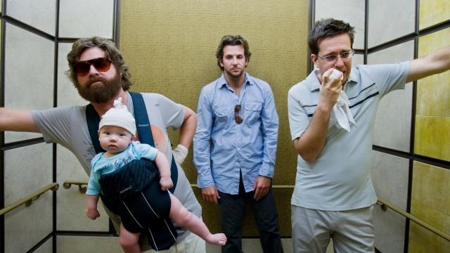 похмілля у Вегасі, дитина, дантист, борода