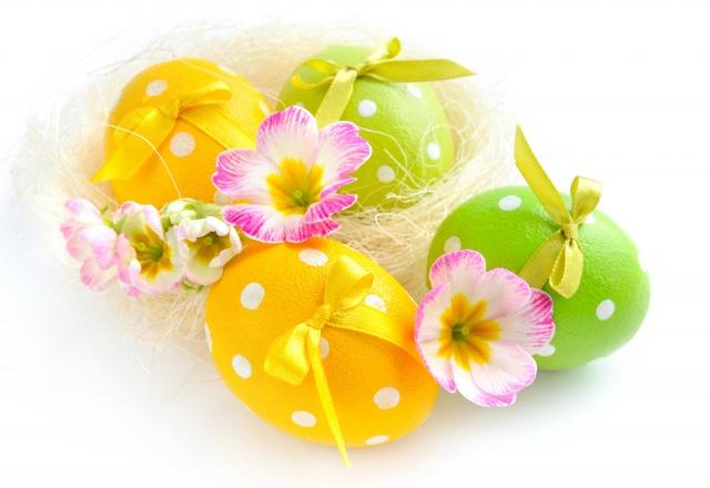 květiny, VEJCE, jaro, velikonoce