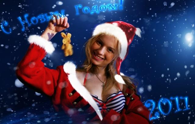 Blizzard, the snow maiden, snow, night, girls, New year