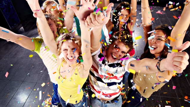 confetti, holiday, people, joy