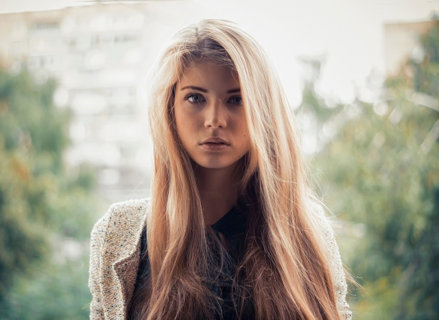 girl, blond, view, macro, photo, theme, beautiful, 2015