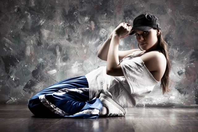 girl, dance, sports, photo, beautiful, grey background, fashionista