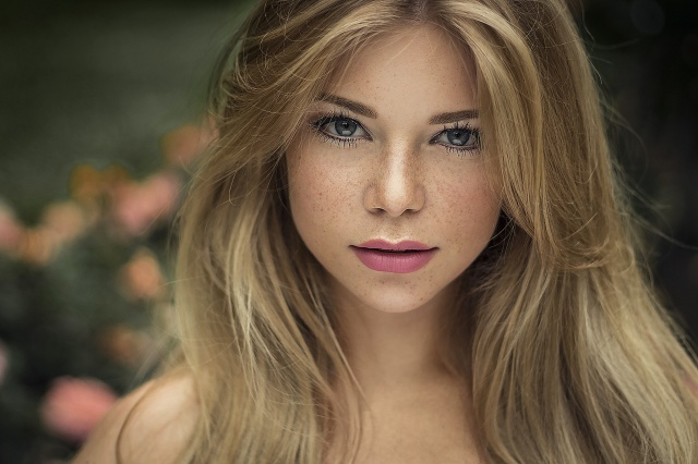 girl, blonde, beautiful, portrait