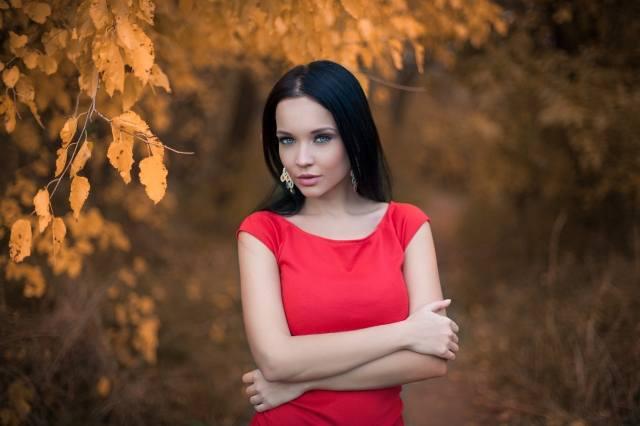 Ангеліна Петрова, Українка, позує, профі фото, осінь