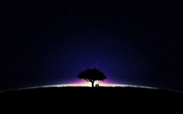 night, stars, PAIR