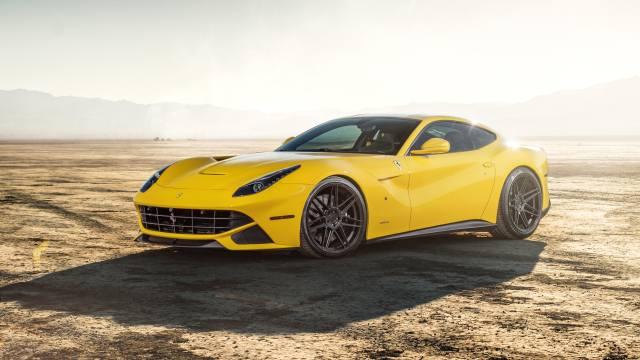 ferrari, f12, yellow
