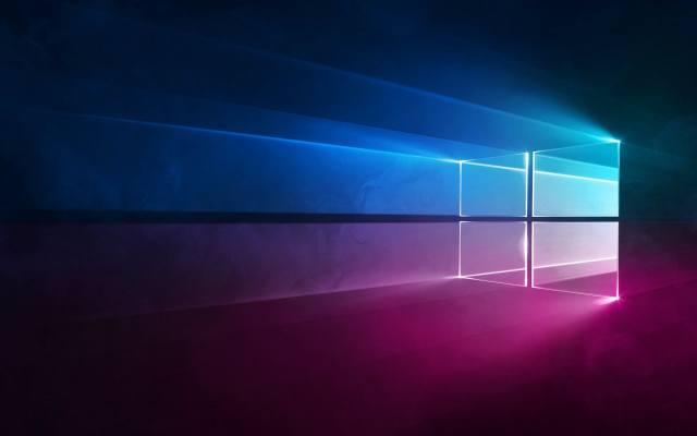 Майкрософт Виндоус 10, неоновый логотип, saver, windows 10