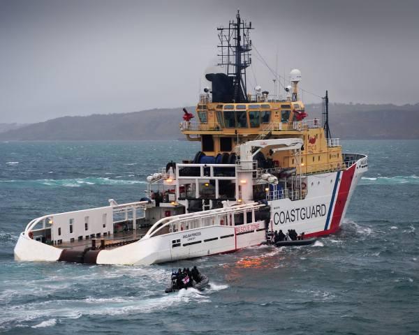 Береговая, охрана, море, корабль, мужская работа