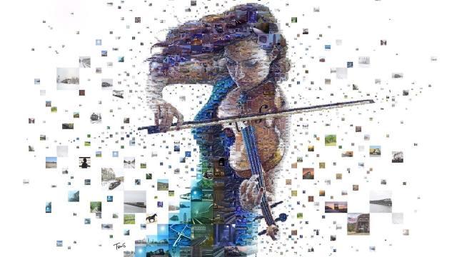 art, holka, housle, hudba, obrázky, hudební nástroj