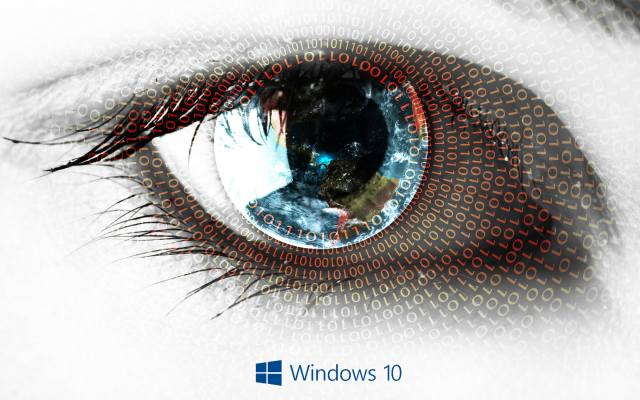 eyes, Texture, windows 10, Logo
