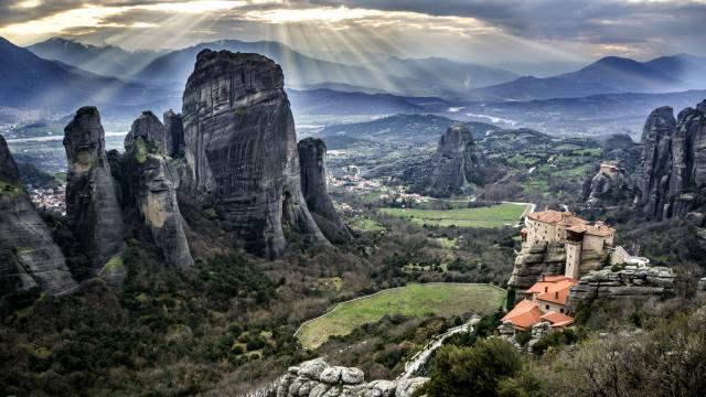 Греция, Meteora, Греция, горы, скалы, Метеора