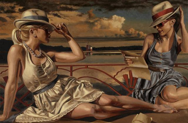Peregrine Heathcote, painter, picture, girl