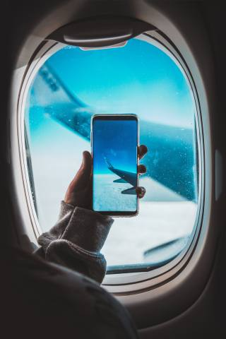 smartphone, the plane, photo, wing