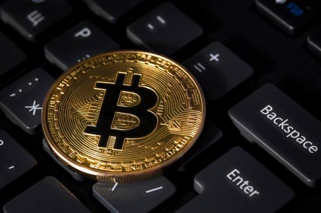 keyboard, coins, bitcoin, macro