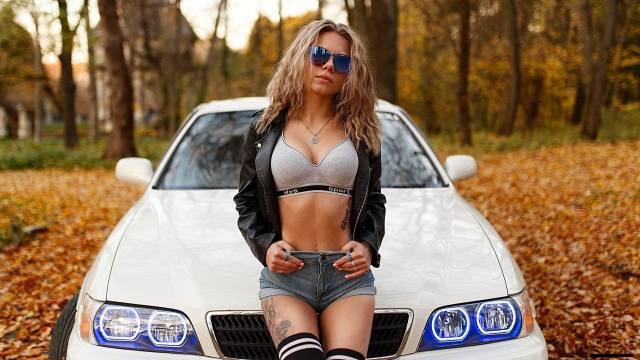girl, Auto, autumn, glasses