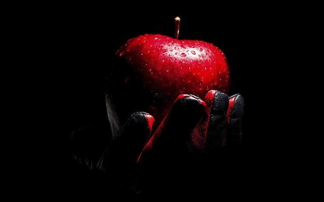jablko, ruka, minimalismus