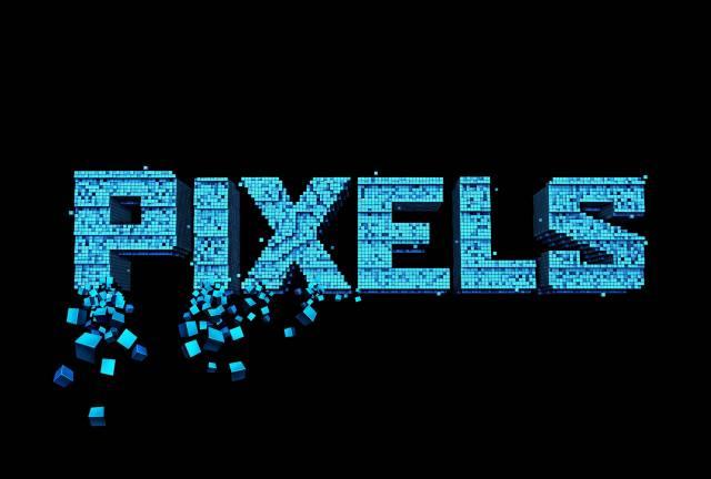 пікселі, Літери
