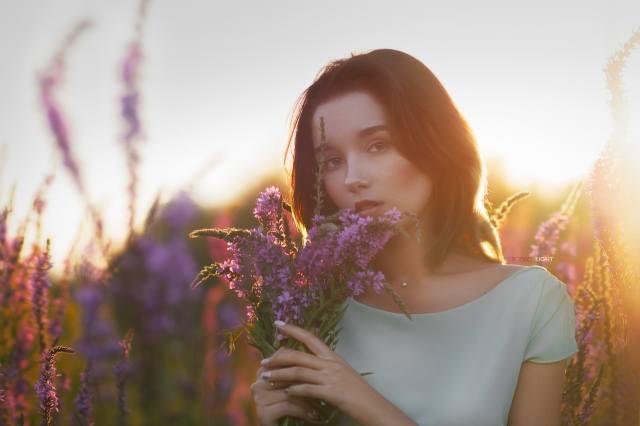 девушка, портрет, цветы, проф фото, Александр Дробков