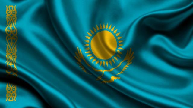 казахстан, Флаг, 3d, Казахстан, Флаг