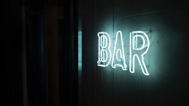 фотография, Неон, бар, знак, неоновая вывеска