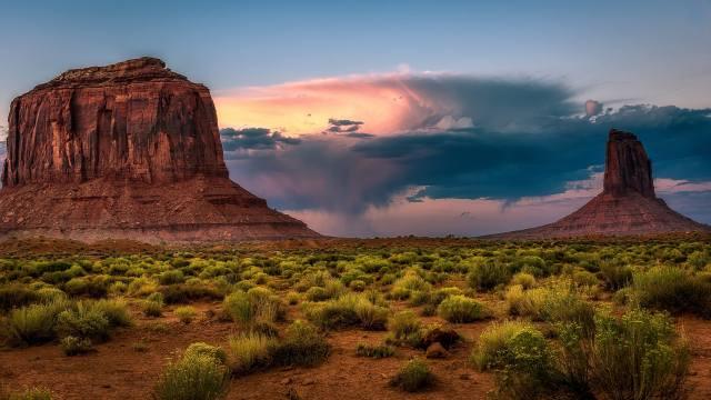 каньон, природа, скалы, небо, тучи