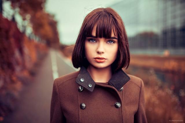 девушка, модель, Marie Grippon, фотограф, Lods Franck, осень, портрет