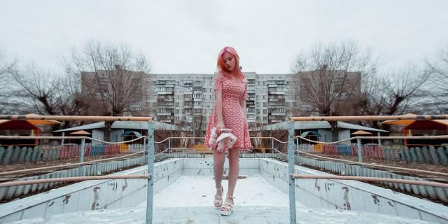 девушка, розовый, фотограф, Олег Наумов