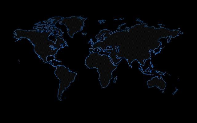 карта, земля, темный фон