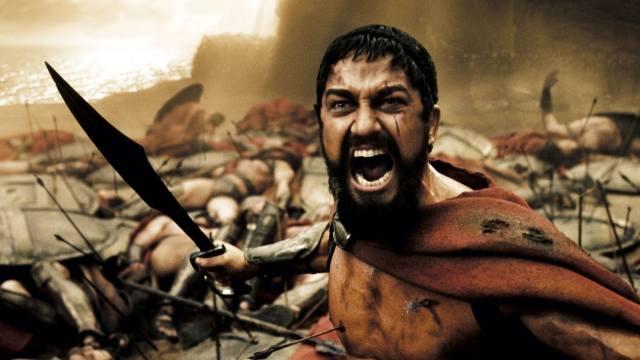 300 Спартанцев, леонид, армия, фильм, ярость