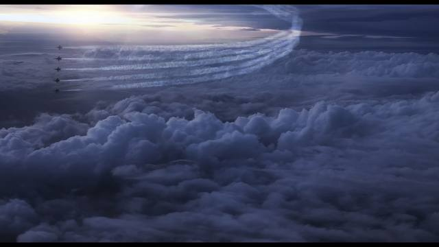 airplanes, flight, fighters, clouds