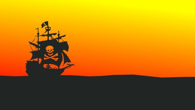 Pirátská loď, Minimal Design, Oranžová
