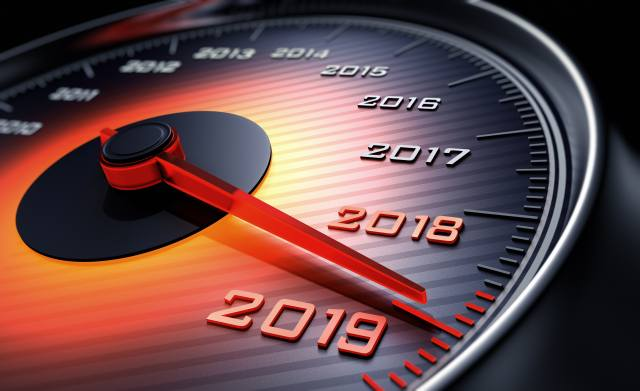 Happy New Year, 2019, Speedometer