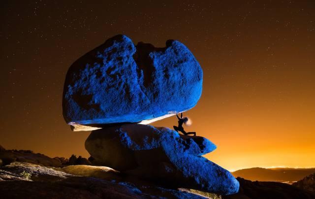 stone, stars, space, creative