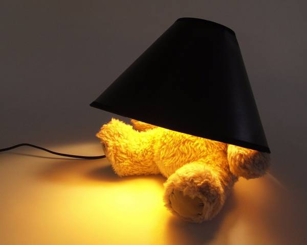 photo, creative, lamp, bear