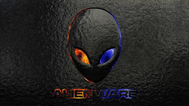 alienware logo grunge background, logo images, značka, Alienware, brand and logo