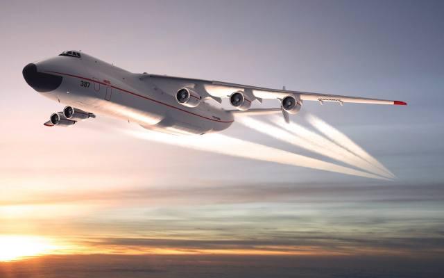 літак, ан-225, небо, захід