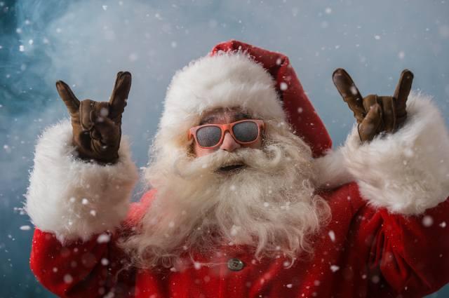 New year, Santa Claus, glasses, beard, Christmas, Santa Claus