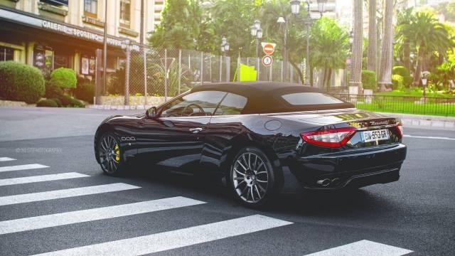maserati, black, supercar