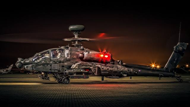 apache, Helicopter, weapons, art