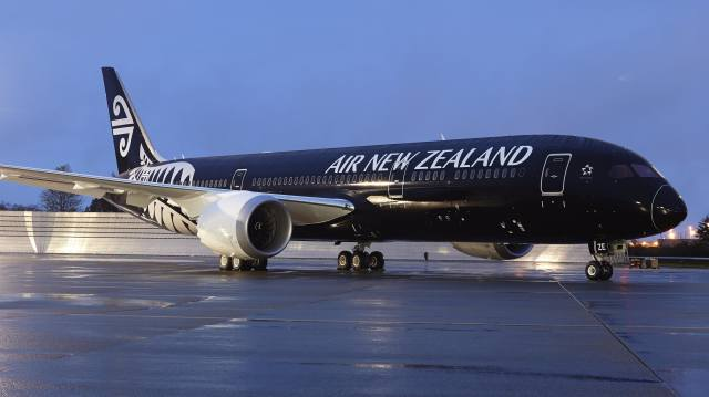 the plane, Air New Zealand, airport