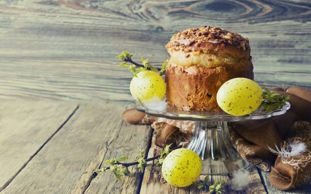 holiday, Easter, Board, Cake, EGGS, eggs, shawl, branches, spring