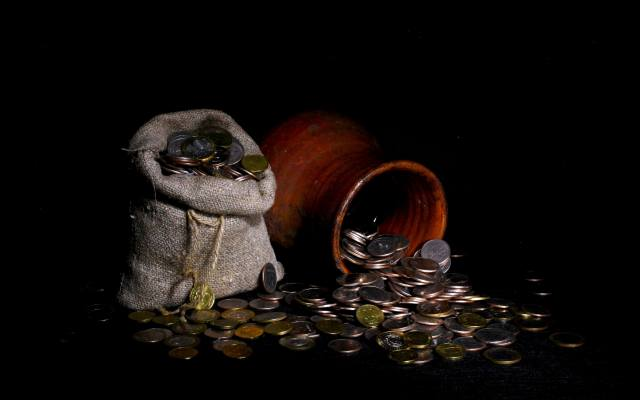 peníze, tašky, мешки с золотом, mince, tara, dengi, kompoziciya, monety