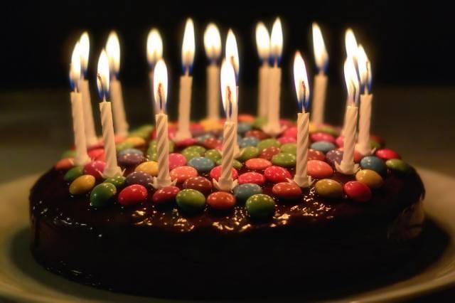 cake, candles, holiday
