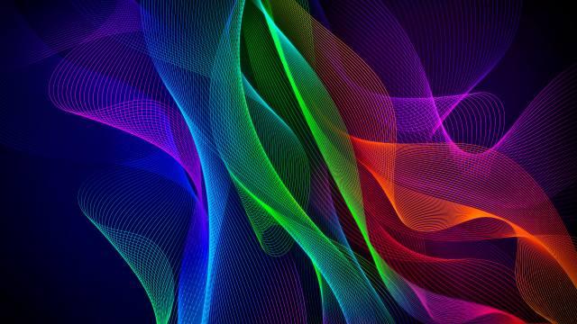 barevné, Abstraktní, razer