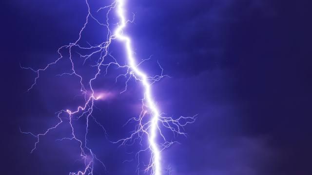 lightning, glare, the sky, night