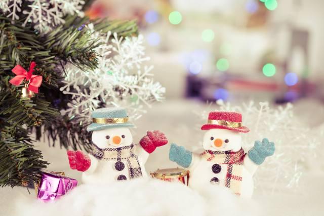 holiday, New year, tree, snow, decoration, Toys, snowmen