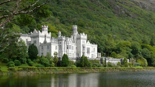 klášter, jezero, Irsko, Kylemore