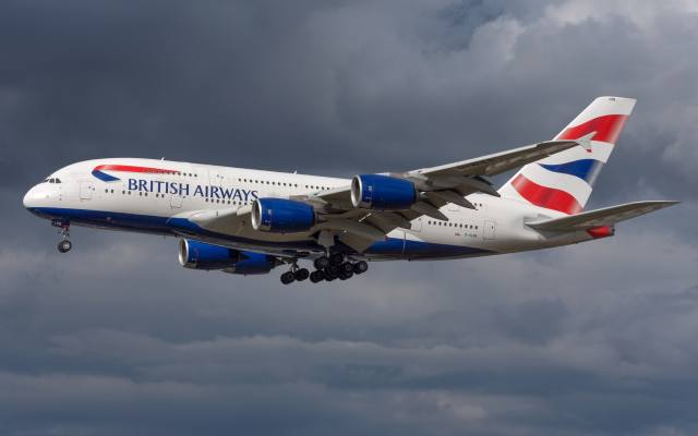 Airbus, A380-800, the plane, the sky