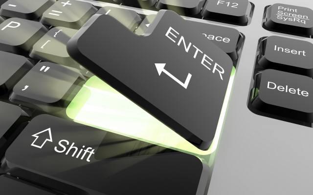 keyboard, glow, enter